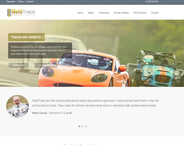 Goldtrack - A Drupal Website by SEO-Hampshire